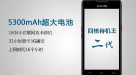 Philips W6618: základní výbava s 5300mAh baterií