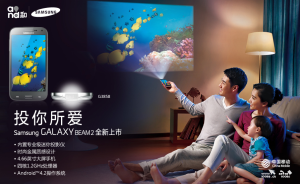 Samsung Galaxy Beam 2 - projekce