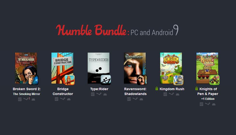 Humble Bundle pro PC a Android 9 se dočkal rozšíření [aktualizováno]