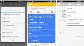 Google Keep povyšuje na verzi 2.2