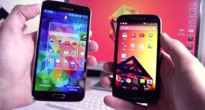 Samsung-Galaxy-S5-vs-Motorola-Moto-E