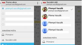 Gmail pro Android 4.8 – přeuspořádání položek a jedna nová funkce