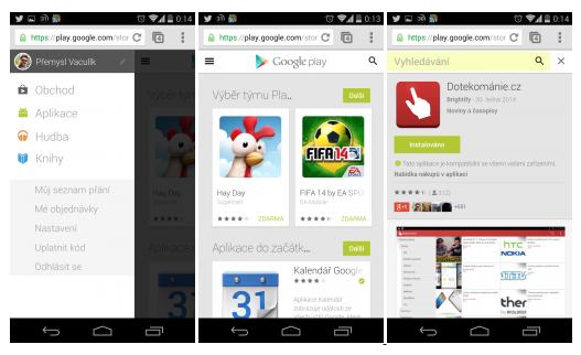 Obchod Play má svou mobilní webovou verzi
