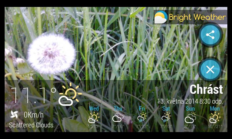 Bright Weather – předpověď počasí s krásným desingem