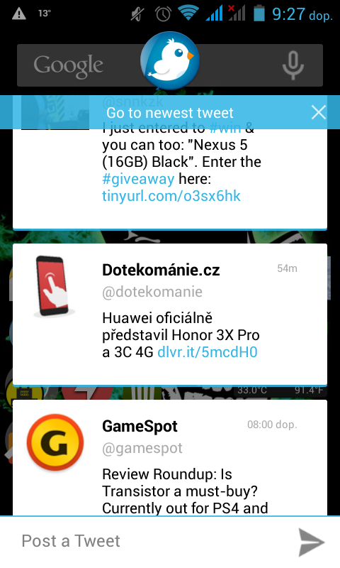 """Twitter Balloon – nový klient s """"chat heads"""" [Android]"""
