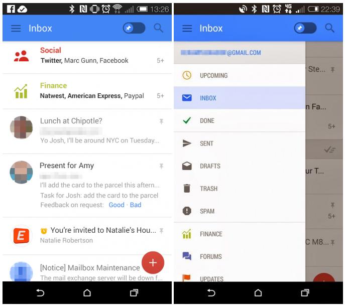 Google testuje nový vzhled webového Gmailu