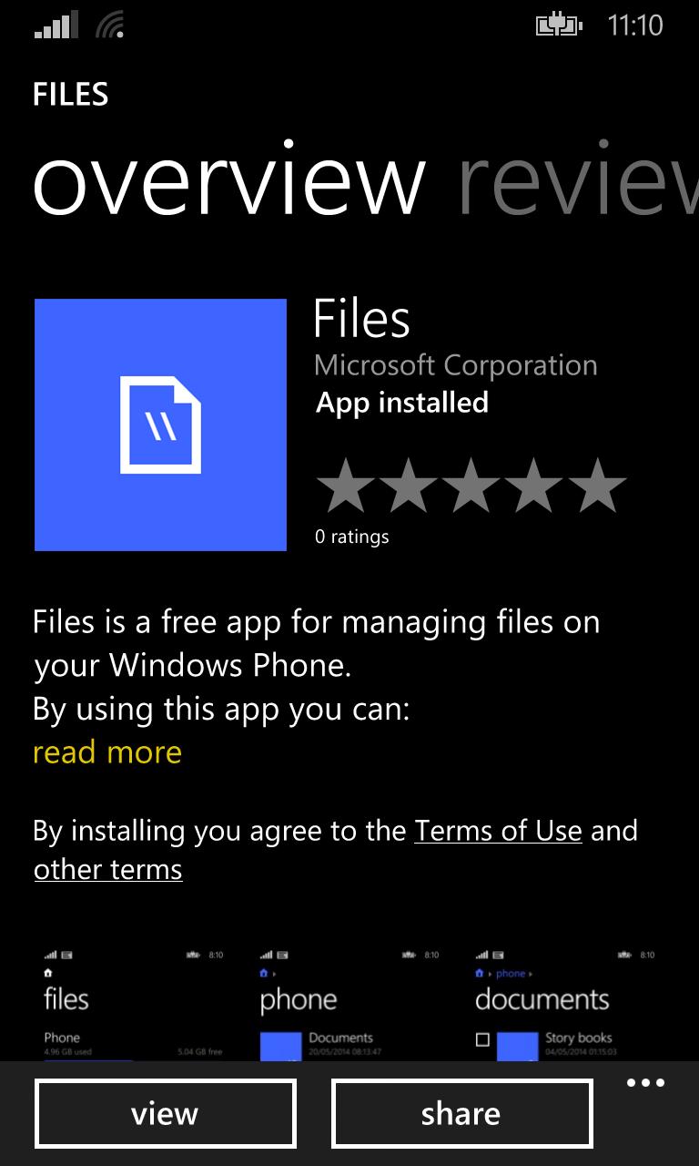 Správce souborů Files je zde a WhatsApp se vrátil do obchodu [WP8/8.1]