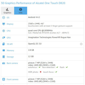 Alcatel OneTouch D820