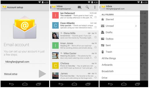 Google má další aplikaci v Obchodě Play – E-mail