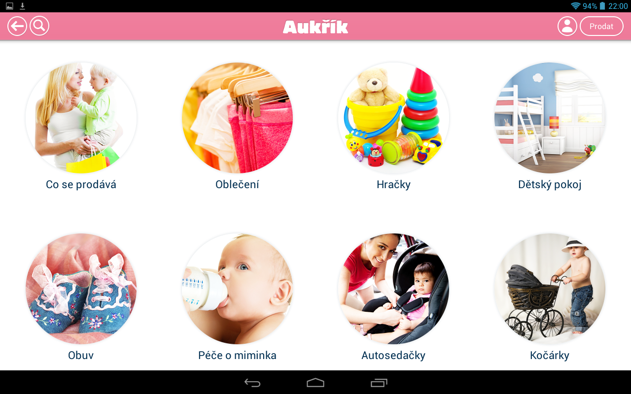 Aukřík – Aplikace pro maminky