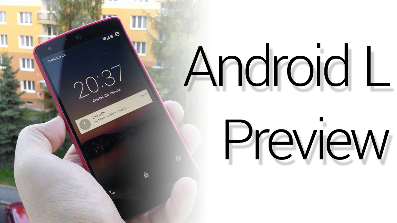Android L Preview – videopohled