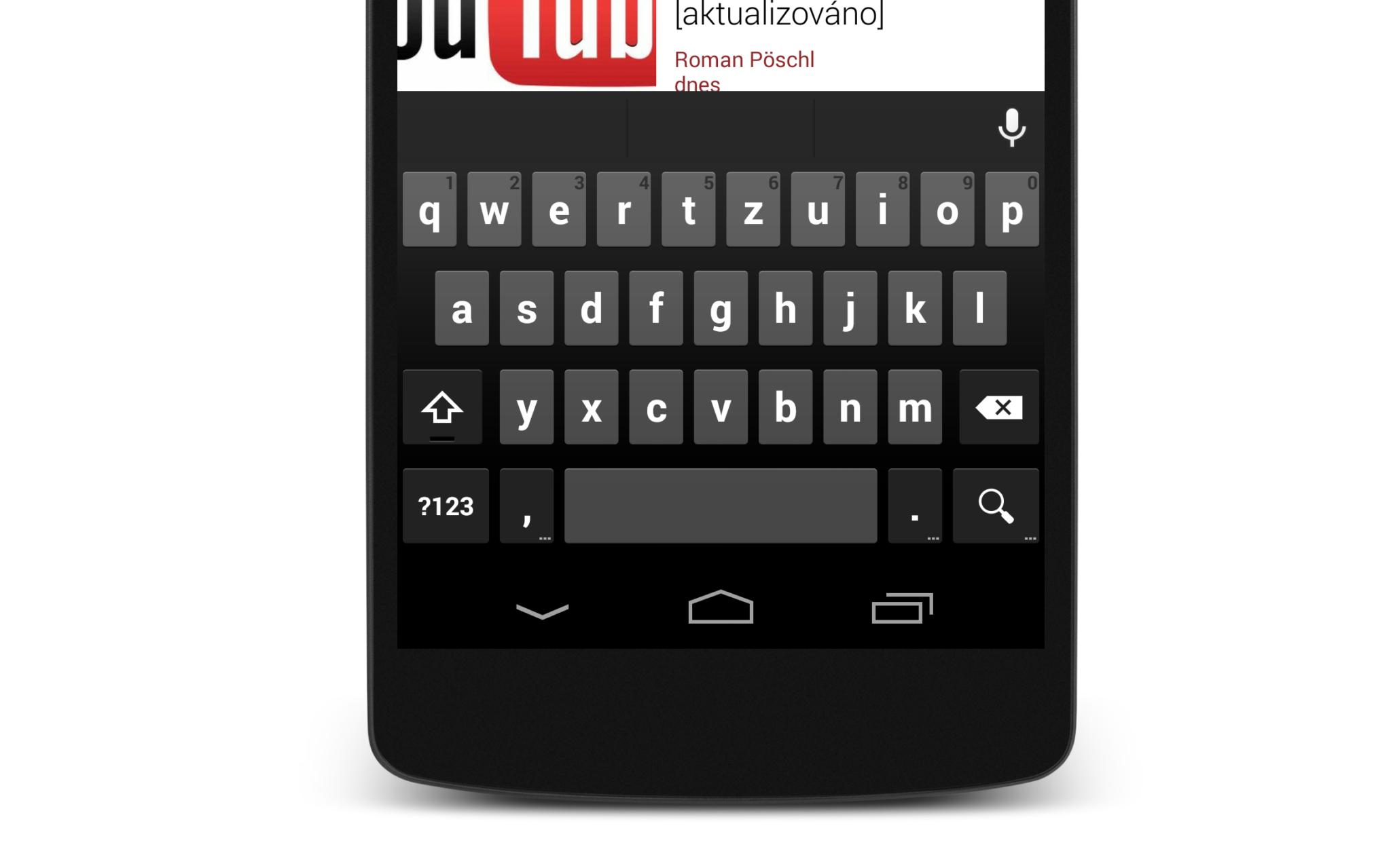 Klávesnice Google – aktualizace přináší drobné změny