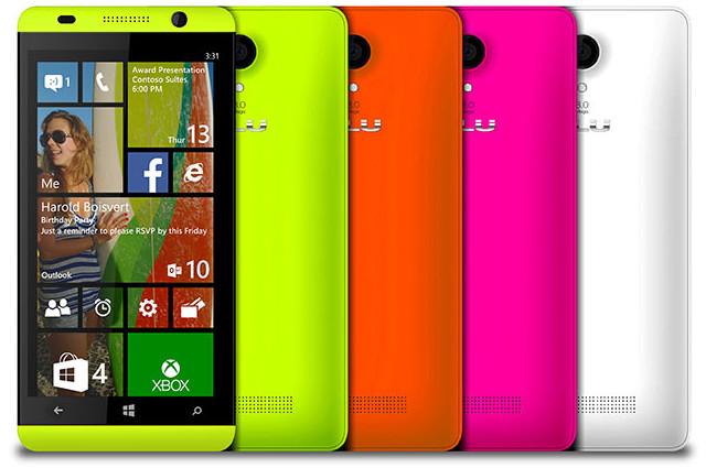 Blu odhalil modely s Windows Phone