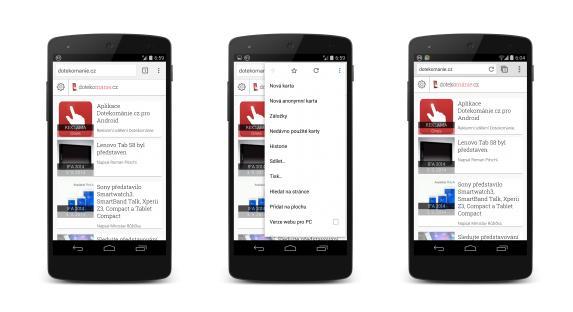 Stabilní Chrome 37 pro Android s novým vzhledem [apk, aktualizováno]