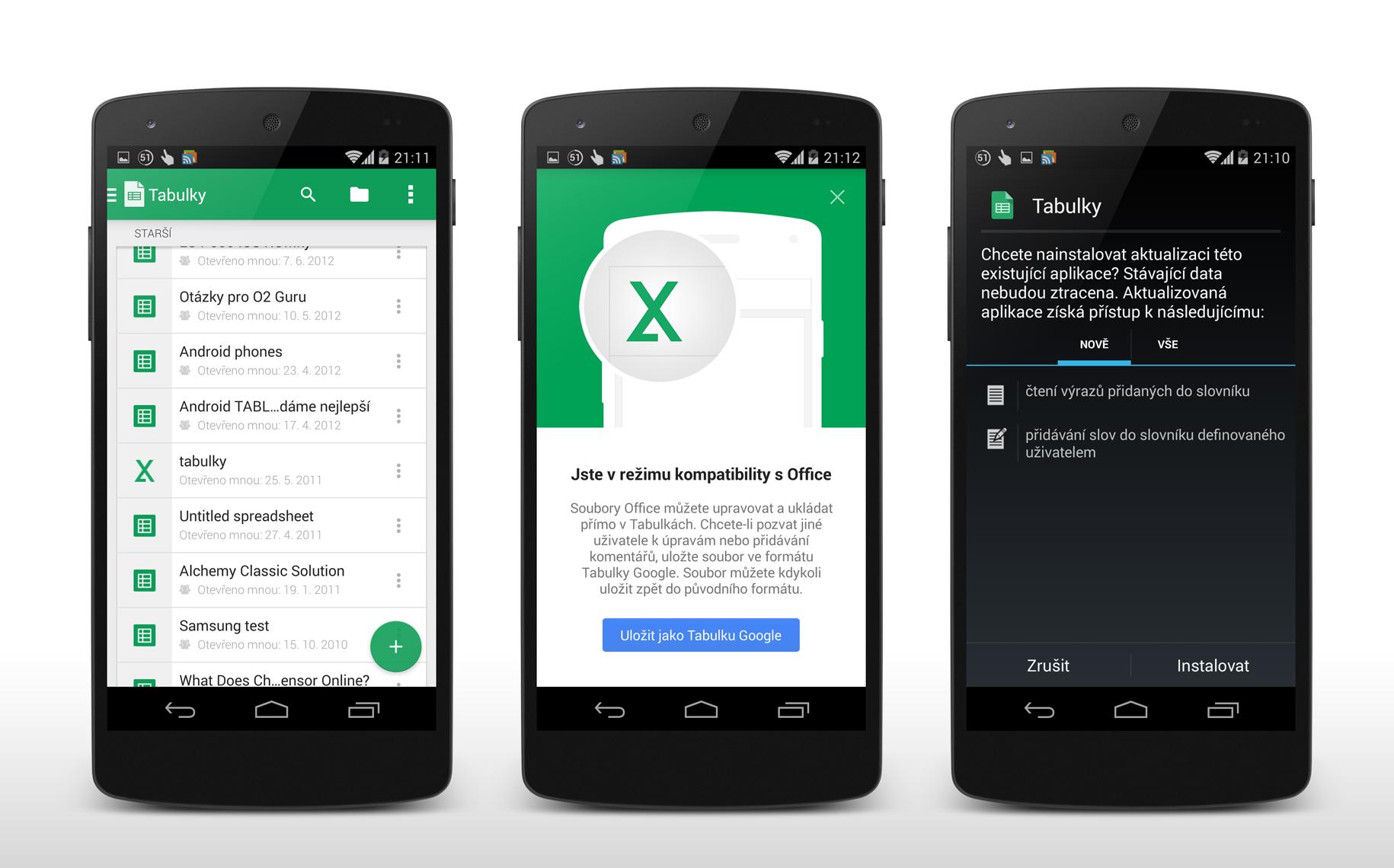 Tabulky Google – nová verze přináší také podporu Excelu od Microsoftu