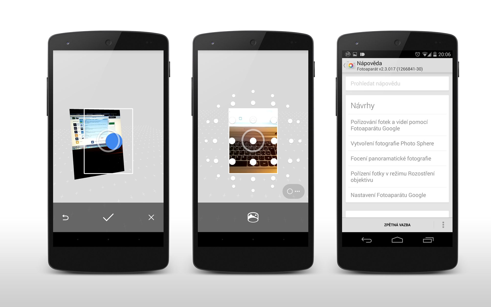 Fotoaparát Google – aktualizace přináší nejen podporu Androidu Wear