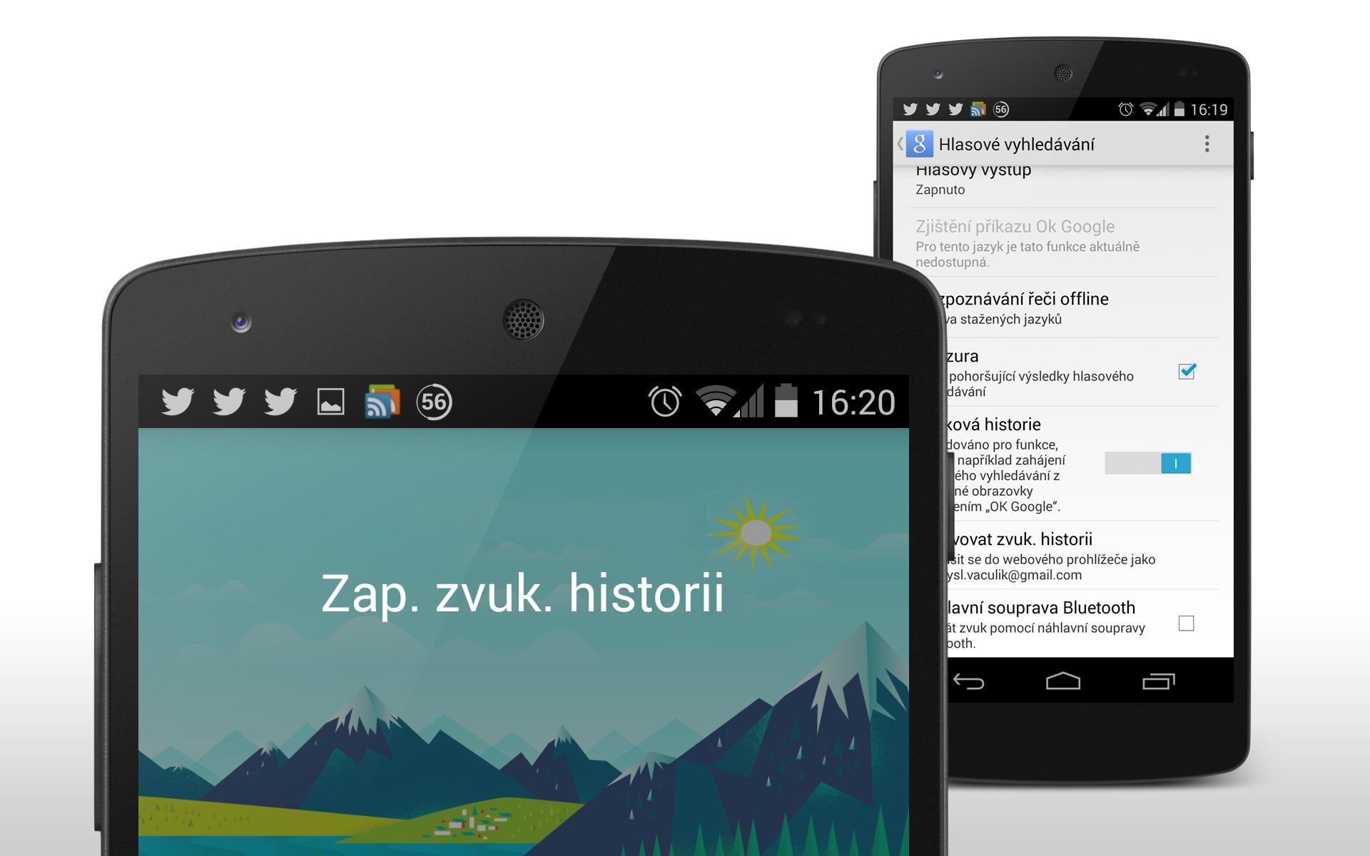 Zvuková historie Google – správa hlasového vyhledávání