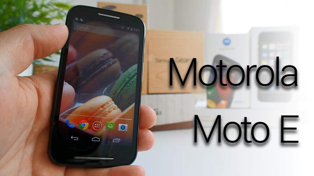 Motorola Moto E – videopohled