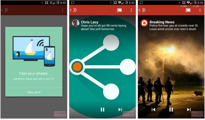 Google+ pro Android nově s podporou Chromecastu [aktualizováno]
