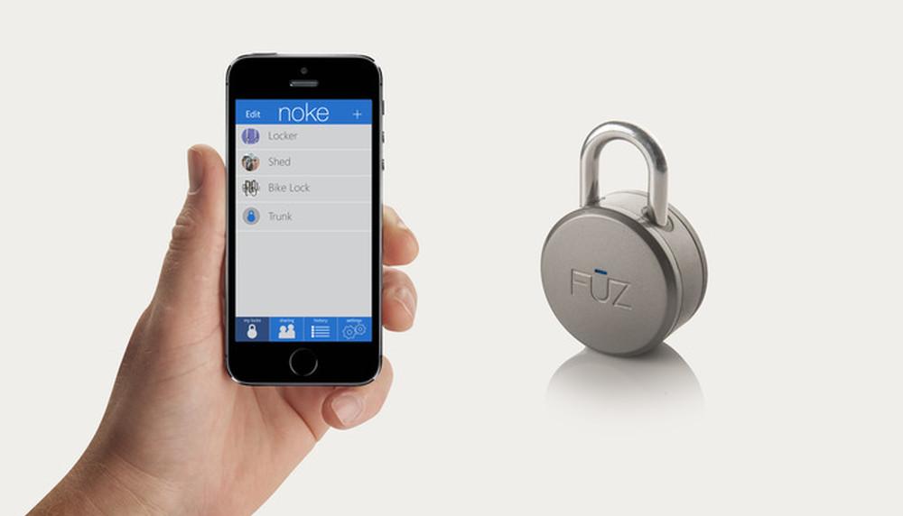 Visací zámek ovládaný pomocí smartphonu