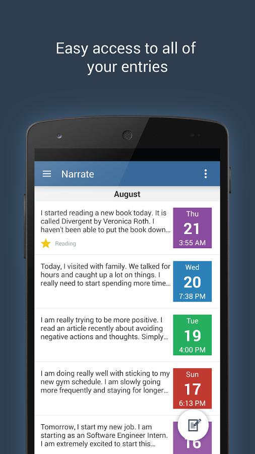 Narrate – inteligentní poznámky a plánování úkolů