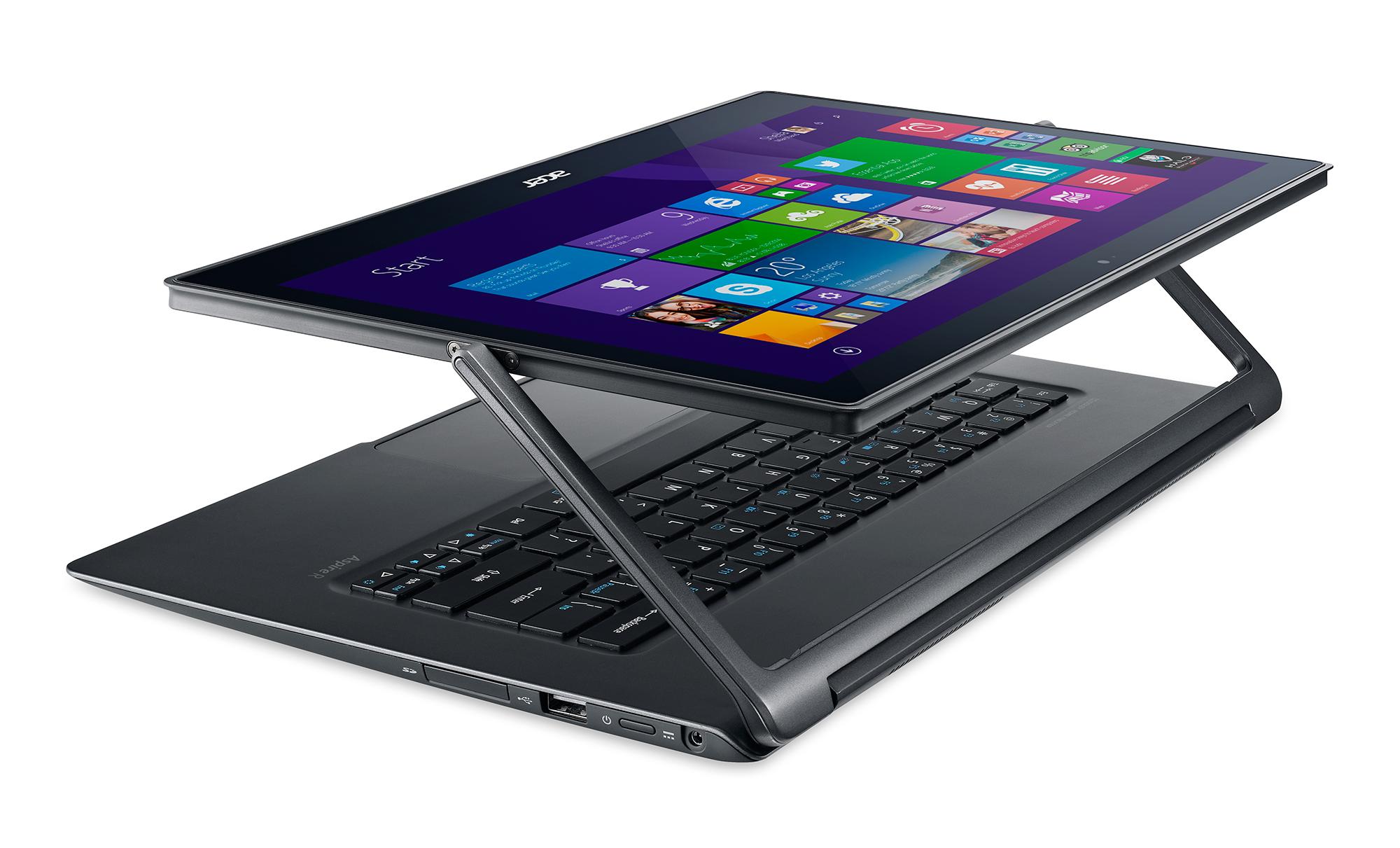 Acer Aspire R 13 a R 14 – nové konvertibilní notebooky