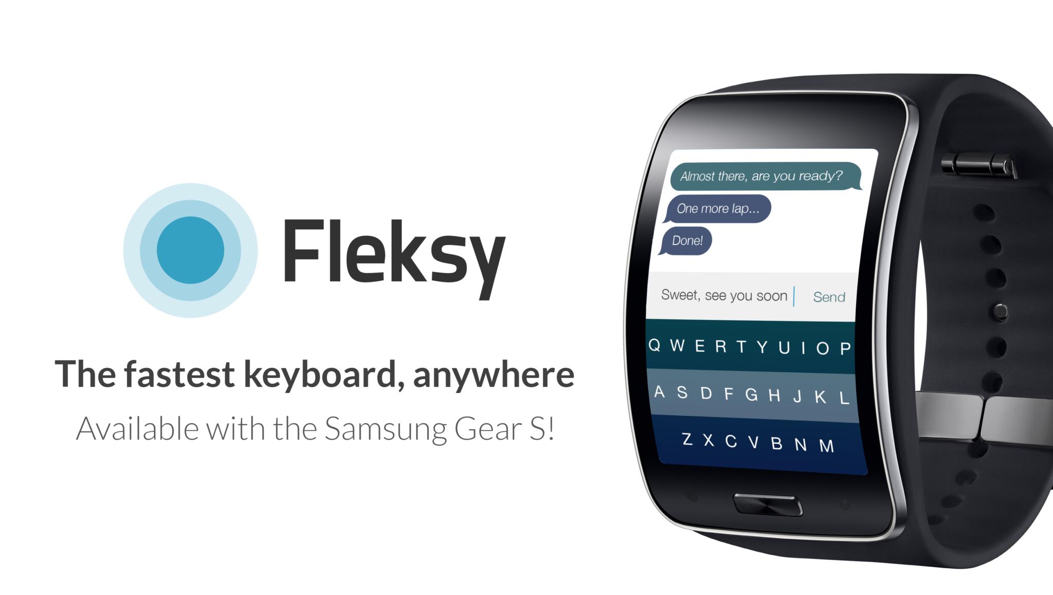 Klávesnice Fleksy pro Samsung Gear S