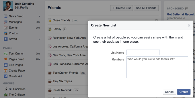 facebook-list-creator