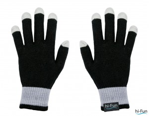 gloves f blk