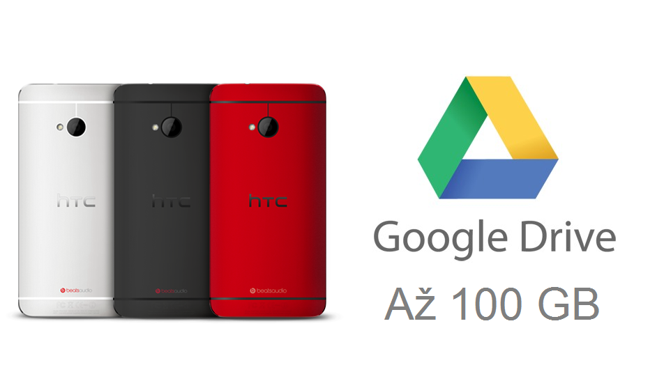 Až 100 GB v Google Drive pro majitele některých HTC mobilů