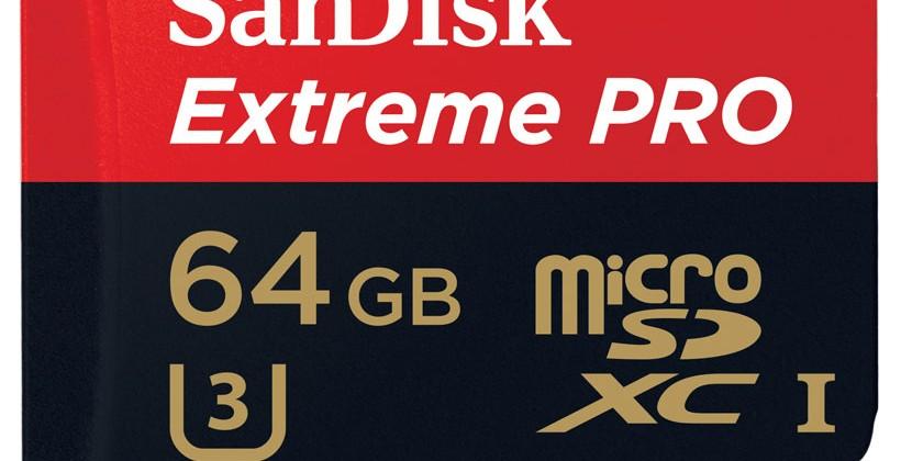 SanDisk představil microSD karty pro natáčení 4k videa