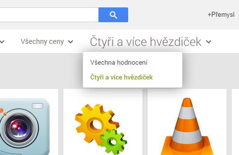 Google Play Obchod – nový filtr při vyhledávání