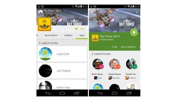 Google Play Hry převlečeny do Material Designu