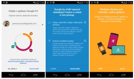 Google Fit – nová aplikace v Obchodě Play