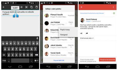 Google aktualizoval Google+, Hry a Knihy Play, Dokumenty, Prezentace, Tabulky, Disk a Fotoaparát