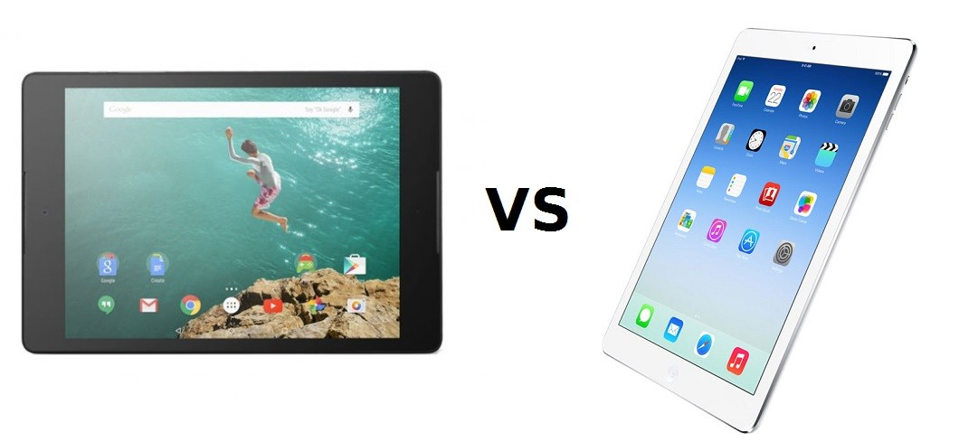 Nexus 9 vs. iPad mini 3 vs. iPad mini 2 vs. iPad Air 2 – tabulkové srovnání
