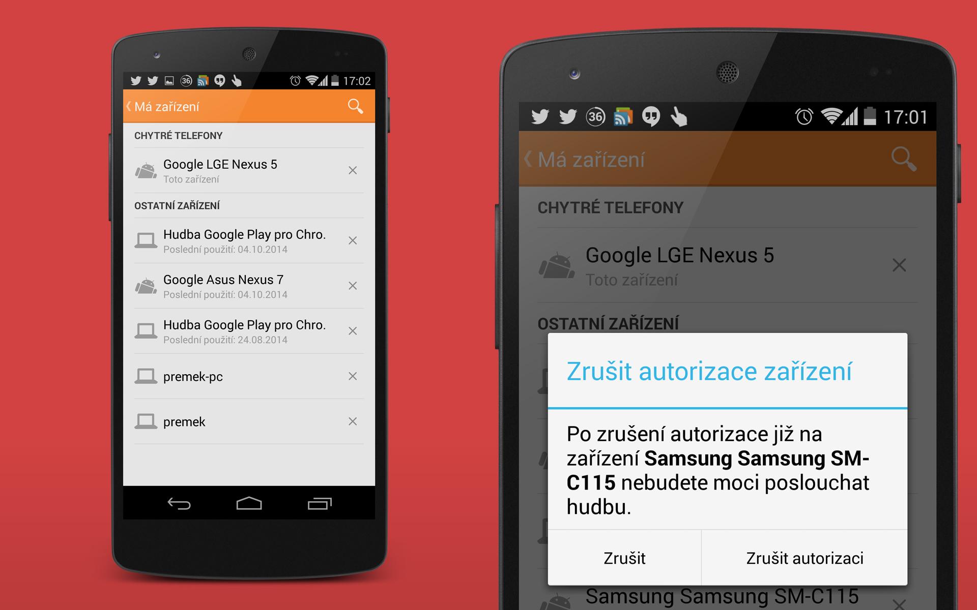 Google Play Hudba – zrušen limit v počtu odebraných zařízení?