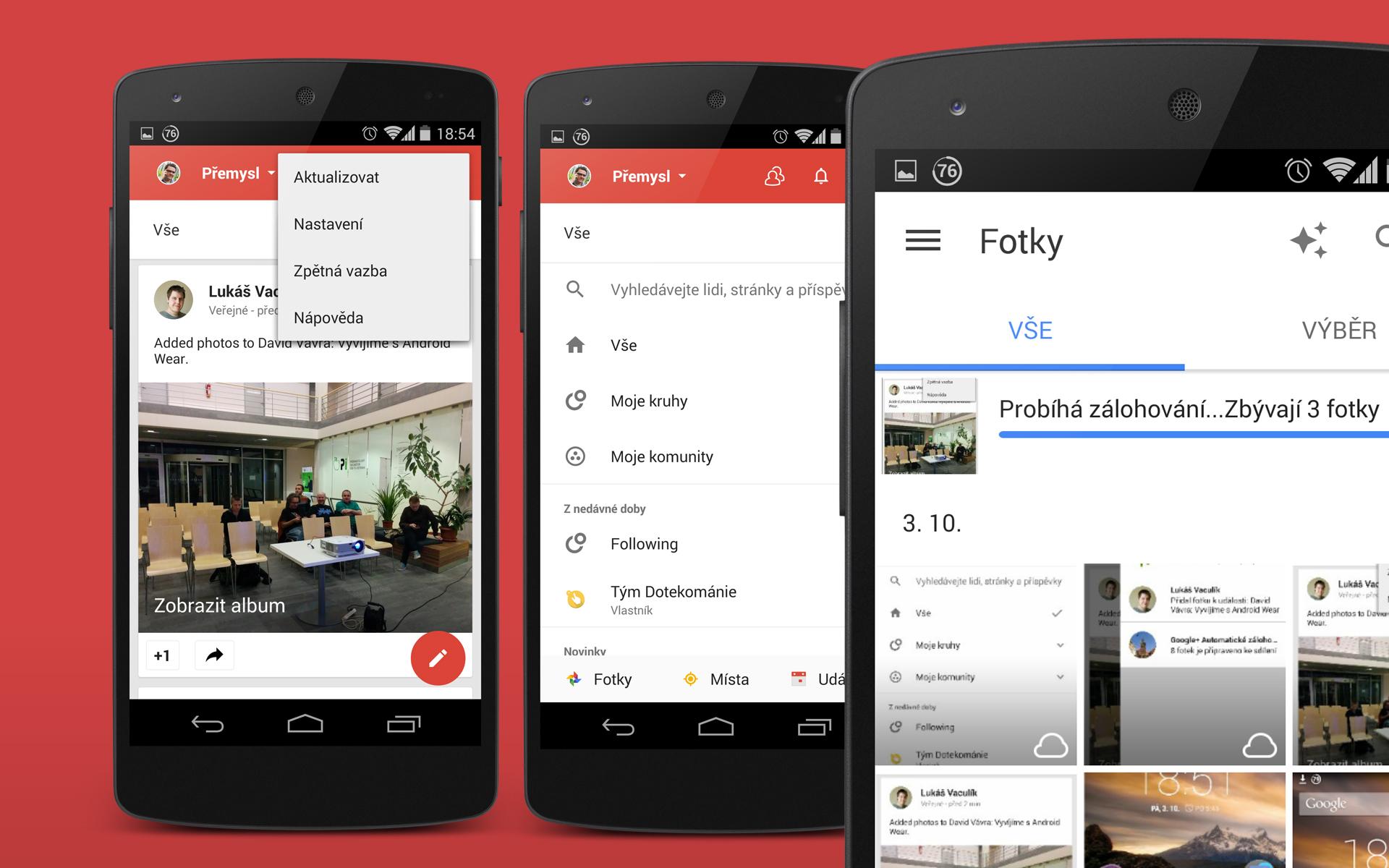 Google+ pro Android v novějším grafickém kabátu