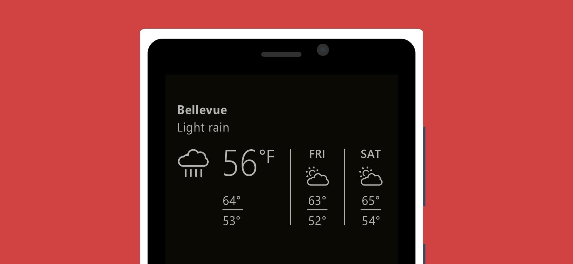 Lumia Glance screen vám nově zobrazí i informace o počasí