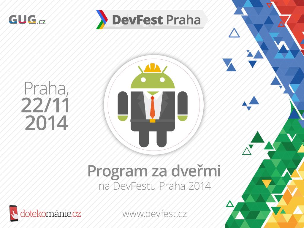 DevFest Praha 2014 – Program dne