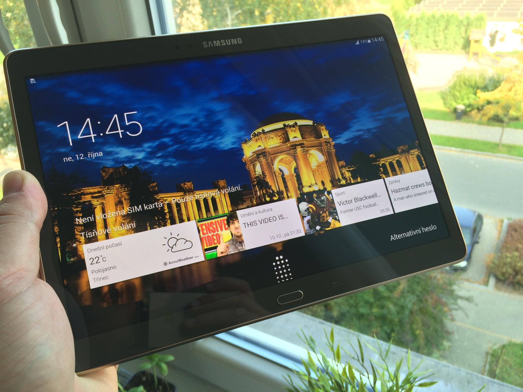 Samsung Galaxy Tab S 10.5 LTE – tablet s nejkrásnějším displejem [recenze]