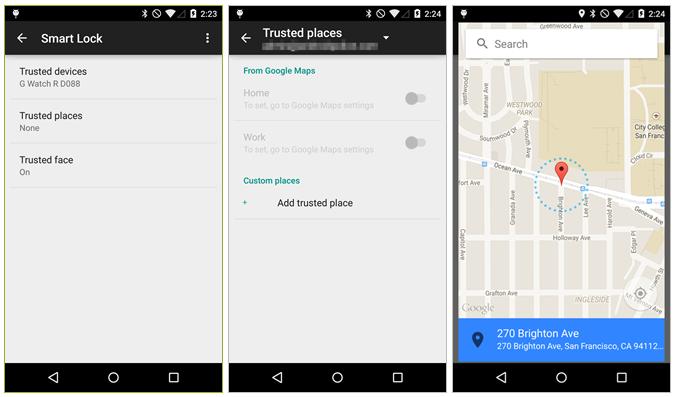 Smart Lock v Androidu umožní přidání důvěryhodných míst