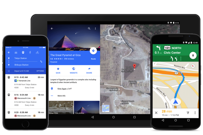 The new Google Maps app