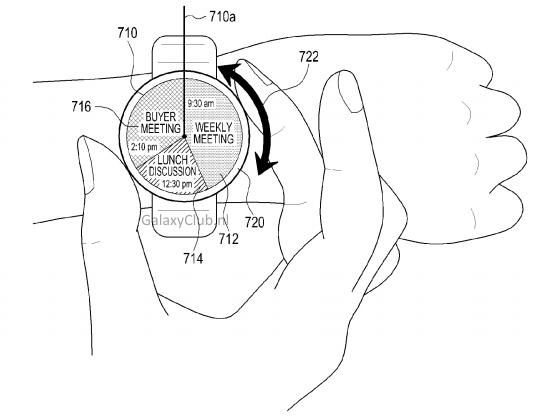 Nový patent od Samsungu – chytré hodiny s otočným ovládáním