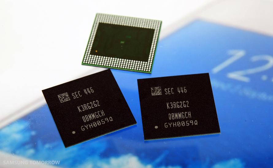 Samsung – masová produkce mobilní 4GB LPDDR4 DRAM