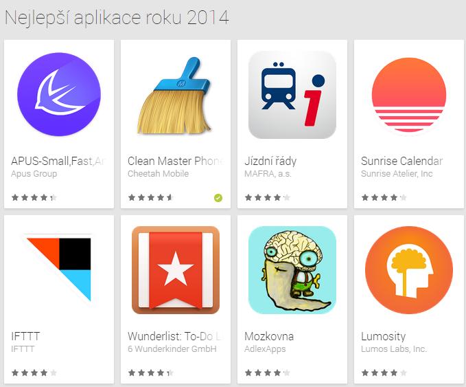 Google Obchod Play – Nejlepší aplikace roku 2014