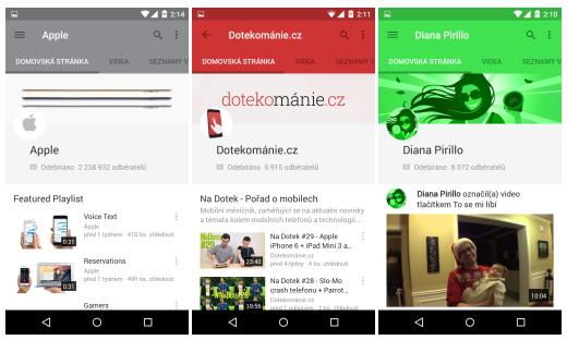 Youtube 6.0 pro Android přichází s novým designem