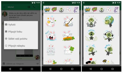 Hangouts pro Android – nové funkce a pozměněný vzhled