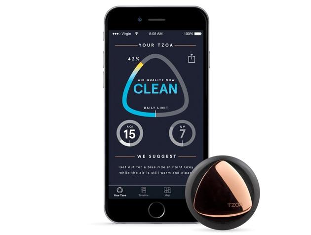 TZOA – nositelné zařízení, které vám řekne, kde je čistý vzduch