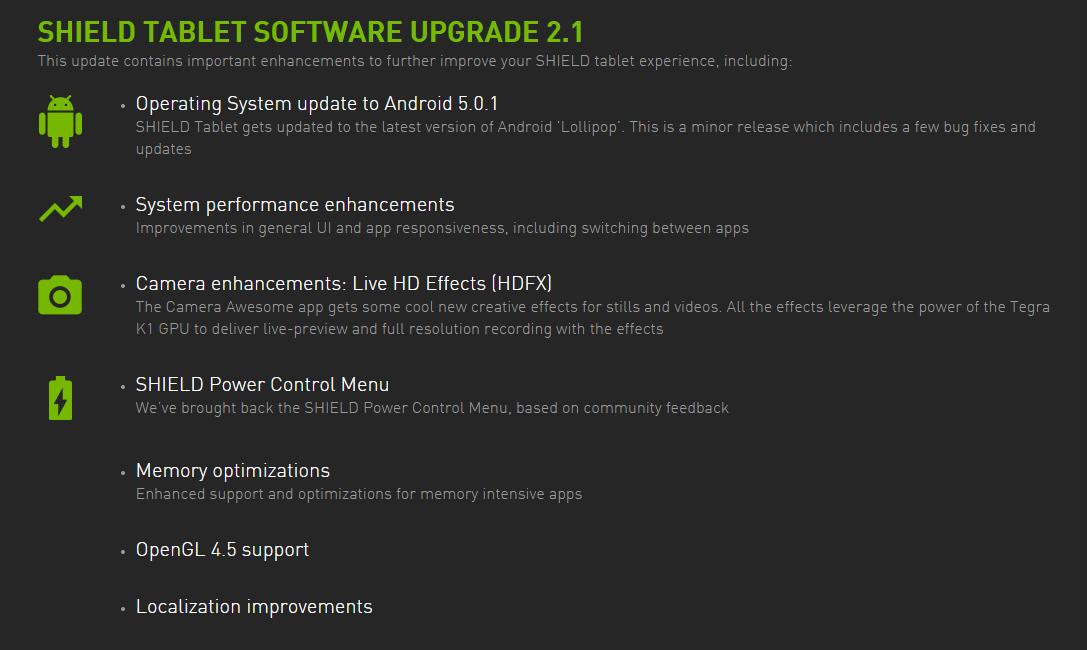 Pro Nvidia Shield tablet je dostupná aktualizace Androidu 5.0.1